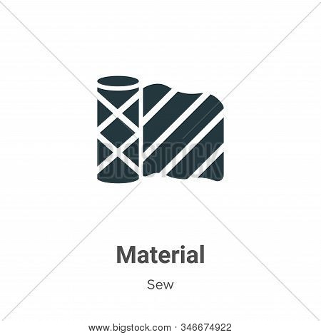 Material icon isolated on white background from sew collection. Material icon trendy and modern Mate