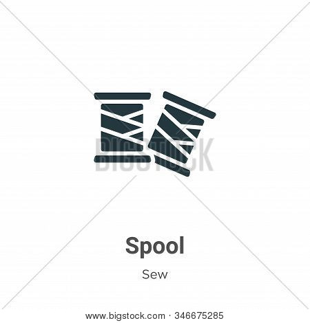 Spool icon isolated on white background from sew collection. Spool icon trendy and modern Spool symb