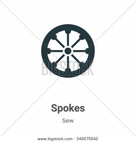 Spokes icon isolated on white background from sew collection. Spokes icon trendy and modern Spokes s