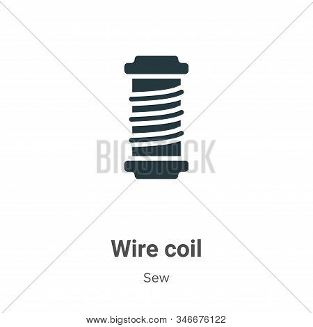 Wire coil icon isolated on white background from sew collection. Wire coil icon trendy and modern Wi