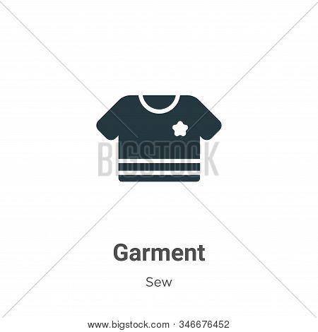 Garment icon isolated on white background from sew collection. Garment icon trendy and modern Garmen