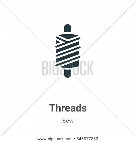 Threads icon isolated on white background from sew collection. Threads icon trendy and modern Thread
