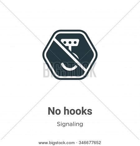 No hooks icon isolated on white background from signaling collection. No hooks icon trendy and moder