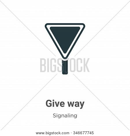 Give way icon isolated on white background from signaling collection. Give way icon trendy and moder
