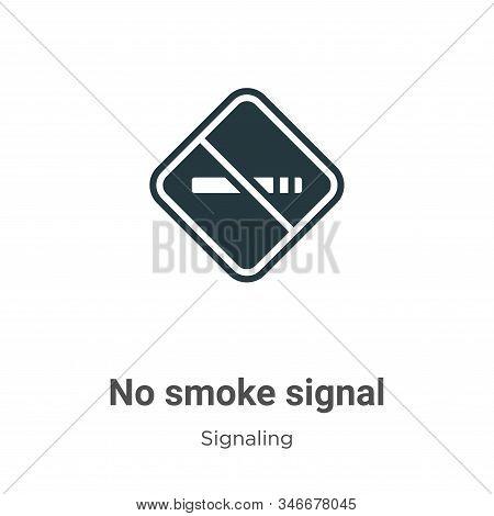 No smoke signal icon isolated on white background from signaling collection. No smoke signal icon tr