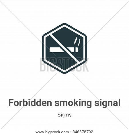 Forbidden smoking signal icon isolated on white background from signs collection. Forbidden smoking