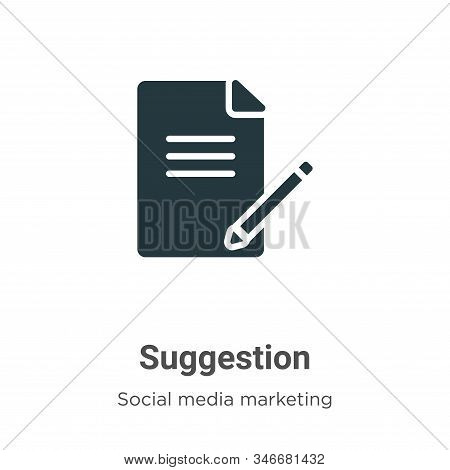 Suggestion Glyph Icon Vector On White Background. Flat Vector Suggestion Icon Symbol Sign From Moder