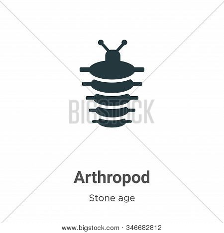 Arthropod icon isolated on white background from stone age collection. Arthropod icon trendy and mod