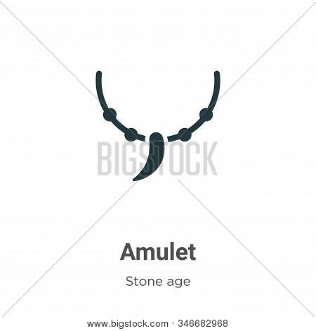 Amulet icon isolated on white background from stone age collection. Amulet icon trendy and modern Am