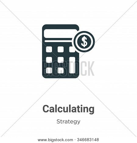 Calculating icon isolated on white background from strategy collection. Calculating icon trendy and