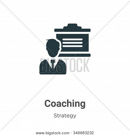 Coaching icon isolated on white background from strategy collection. Coaching icon trendy and modern
