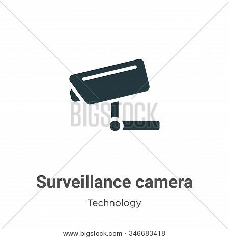 Surveillance camera icon isolated on white background from technology collection. Surveillance camer