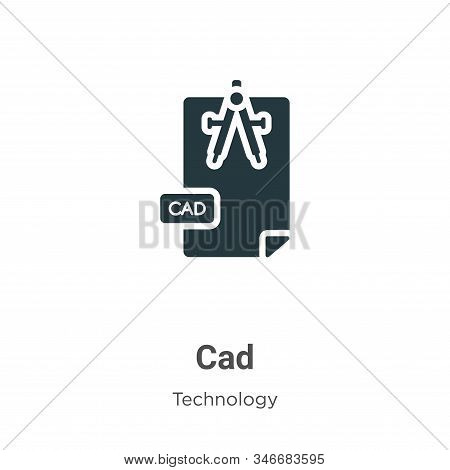Cad icon isolated on white background from technology collection. Cad icon trendy and modern Cad sym