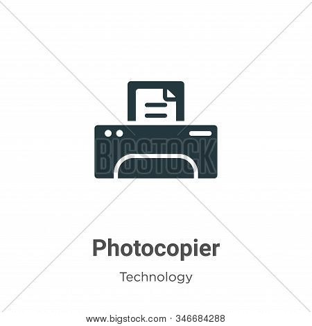 Photocopier icon isolated on white background from technology collection. Photocopier icon trendy an