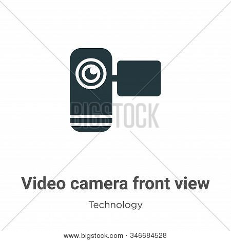 Video camera front view icon isolated on white background from technology collection. Video camera f