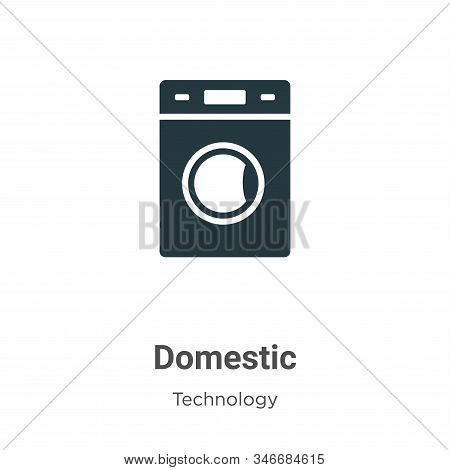 Domestic icon isolated on white background from technology collection. Domestic icon trendy and mode