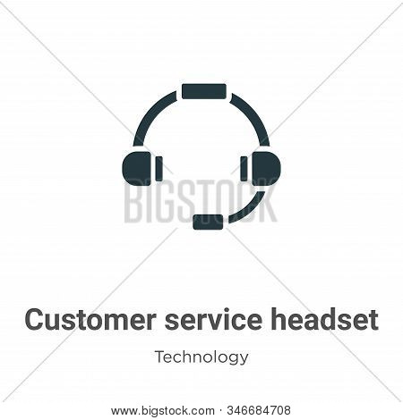 Customer service headset icon isolated on white background from technology collection. Customer serv