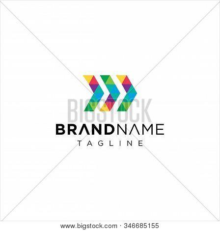 Abstract Colorful Arrow Logo Icon Design Vector Stock