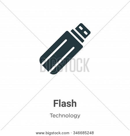 Green flash icon isolated on white background from technology collection. Green flash icon trendy an