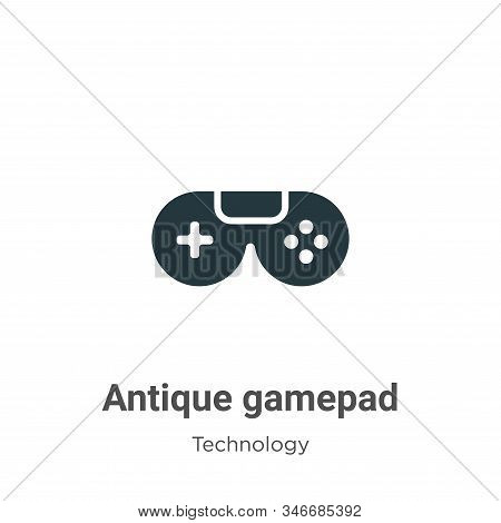 Antique gamepad icon isolated on white background from technology collection. Antique gamepad icon t