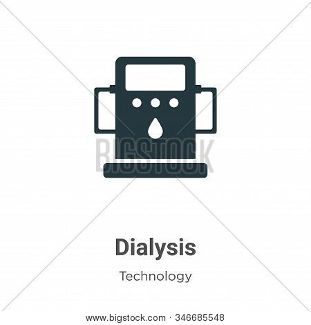 Dialysis Glyph Icon Vector On White Background. Flat Vector Dialysis Icon Symbol Sign From Modern Te