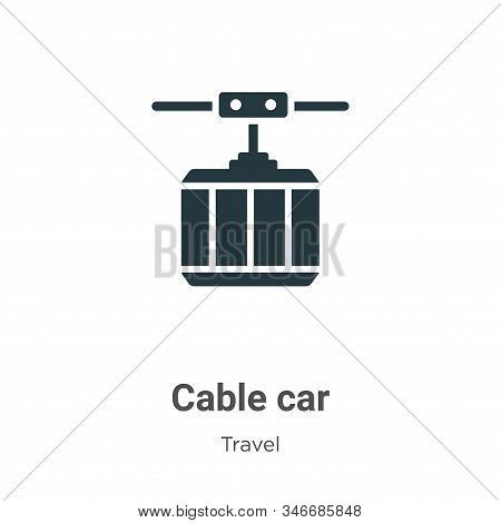 Cable car icon isolated on white background from travel collection. Cable car icon trendy and modern