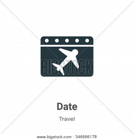 Date icon isolated on white background from travel collection. Date icon trendy and modern Date symb