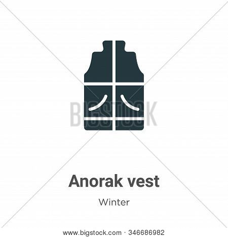 Anorak vest icon isolated on white background from winter collection. Anorak vest icon trendy and mo