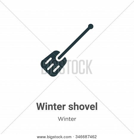 Winter shovel icon isolated on white background from winter collection. Winter shovel icon trendy an