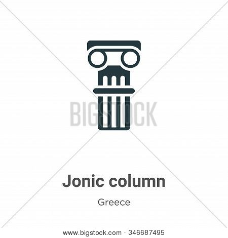 Jonic column icon isolated on white background from greece collection. Jonic column icon trendy and