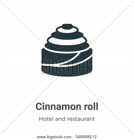Cinnamon roll icon isolated on white background from hotel and restaurant collection. Cinnamon roll
