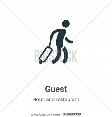 Guest icon isolated on white background from hotel and restaurant collection. Guest icon trendy and