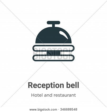 Reception bell icon isolated on white background from hotel and restaurant collection. Reception bel