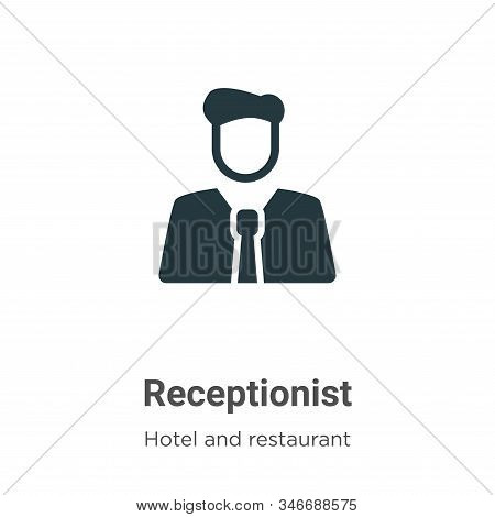Receptionist icon isolated on white background from hotel and restaurant collection. Receptionist ic