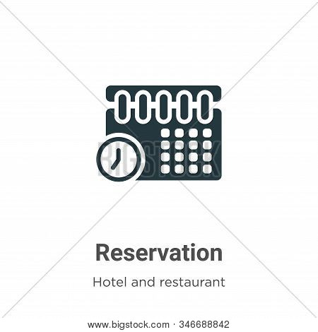 Reservation icon isolated on white background from hotel and restaurant collection. Reservation icon