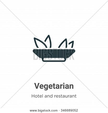 Vegetarian icon isolated on white background from hotel and restaurant collection. Vegetarian icon t