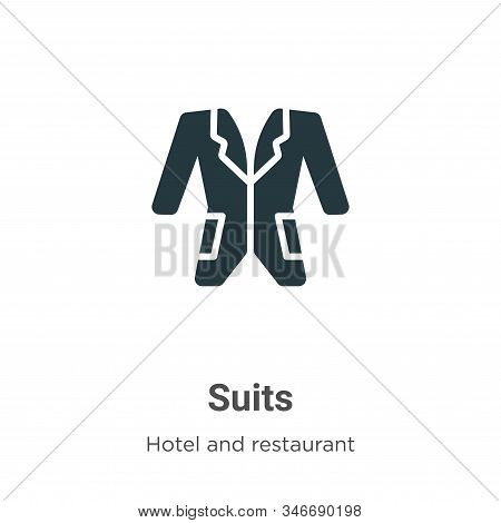 Suits icon isolated on white background from accommodation collection. Suits icon trendy and modern