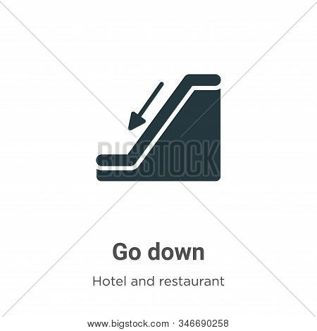 Go down icon isolated on white background from accommodation collection. Go down icon trendy and mod