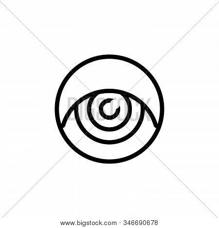 Black Line Icon For Eye Ios Glimmers Look Vision Eyeball Optical Eyesight