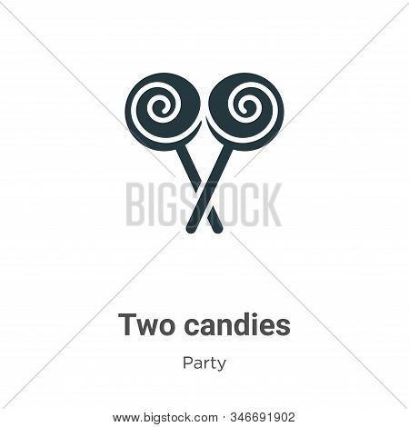 Two candies icon isolated on white background from party collection. Two candies icon trendy and mod