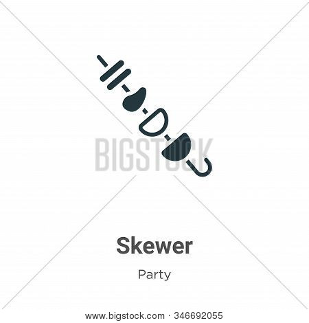 Skewer icon isolated on white background from party collection. Skewer icon trendy and modern Skewer
