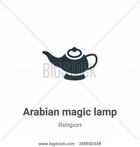 Arabian magic lamp icon isolated on white background from religion collection. Arabian magic lamp ic