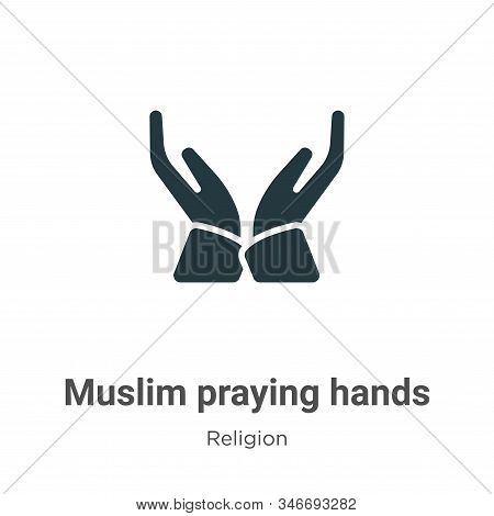 Muslim praying hands icon isolated on white background from religion collection. Muslim praying hand