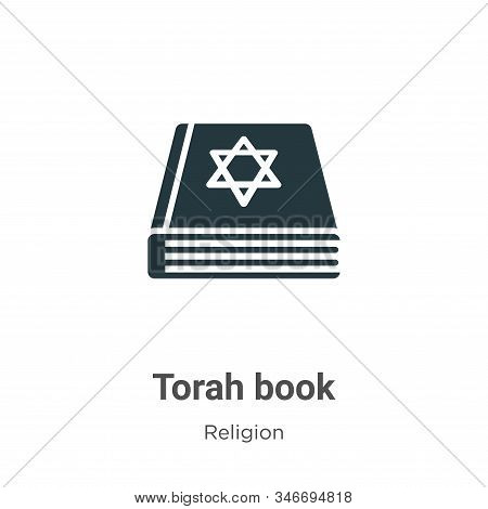 Torah Book Glyph Icon Vector On White Background. Flat Vector Torah Book Icon Symbol Sign From Moder