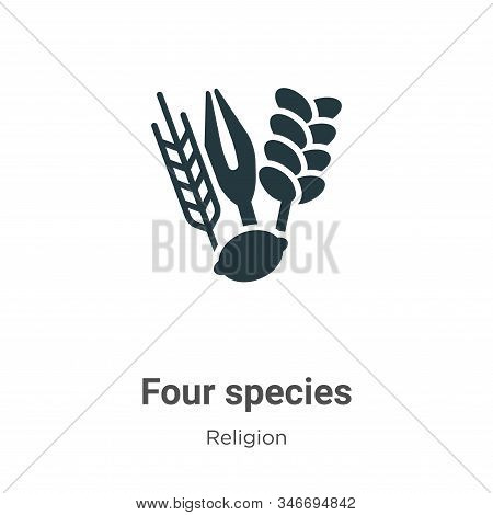 Four Species Glyph Icon Vector On White Background. Flat Vector Four Species Icon Symbol Sign From M