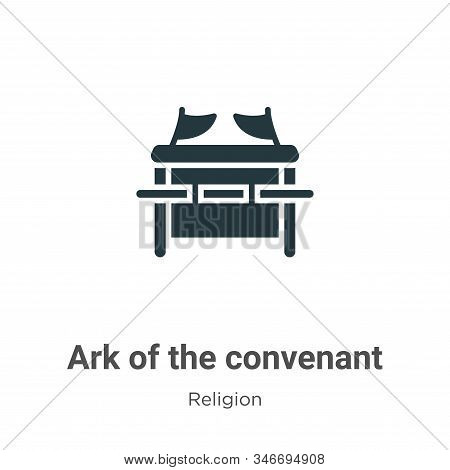 Ark Of The Convenant Glyph Icon Vector On White Background. Flat Vector Ark Of The Convenant Icon Sy