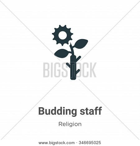 Budding staff icon isolated on white background from religion collection. Budding staff icon trendy