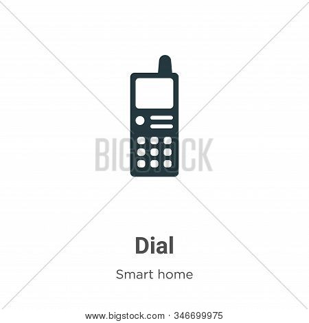 Dial icon isolated on white background from smart house collection. Dial icon trendy and modern Dial