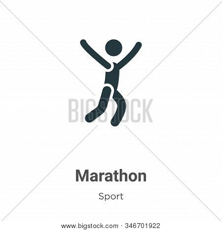 Marathon icon isolated on white background from sport collection. Marathon icon trendy and modern Ma