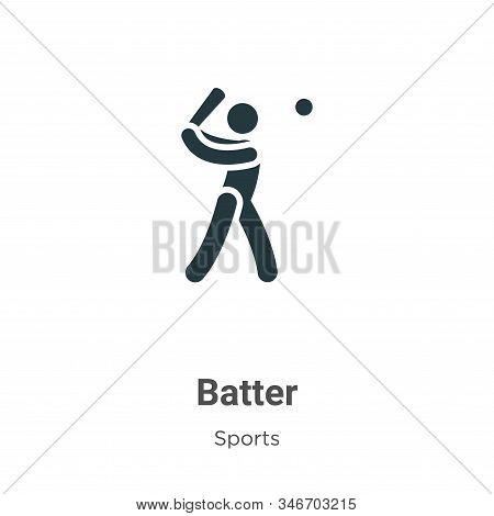Batter icon isolated on white background from sports collection. Batter icon trendy and modern Batte